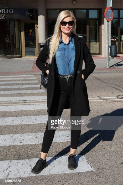 Designer Maya Hansen attends the Funeral Chapel for Cuca Solana on March 14 2019 in Madrid Spain