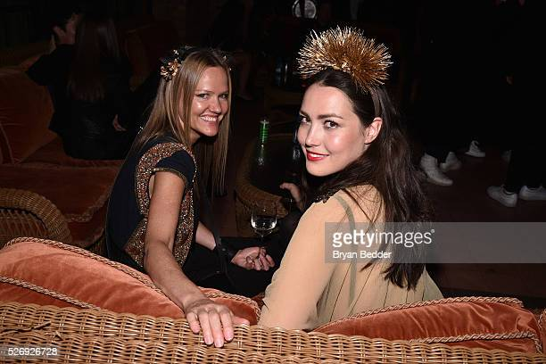 Designer Megan Guip and guest attend the Gisele Bundchen Spring Fling book launch on April 30 2016 in New York City