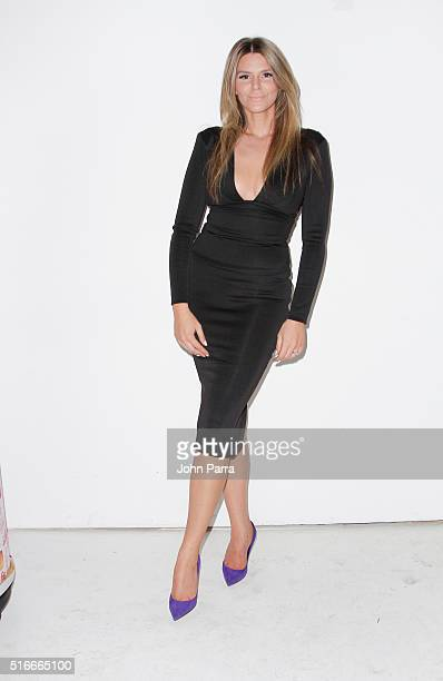 Designer Melina Harris backstage at the HAMEL By Melina Harris At FUNKSHION Fashion Week Miami Beach at Studio 255 on March 19 2016 in Miami Florida