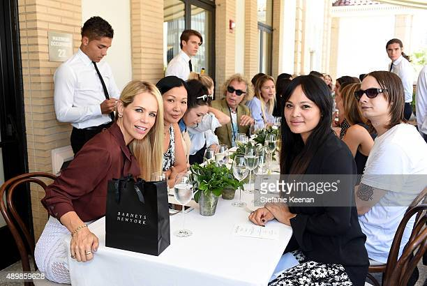 Designer Melinda Maria actress Deborah Lin and guests attend Joseph Altuzarra Luncheon hosted by Barneys New York Zoe Saldana and Petra Flannery at...