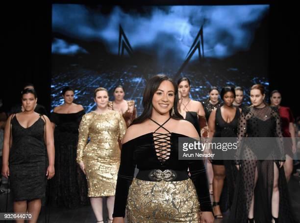 Designer Melissa Mercedes walks down the runway with models at Los Angeles Fashion Week Powered by Art Hearts Fashion LAFW FW/18 10th Season...
