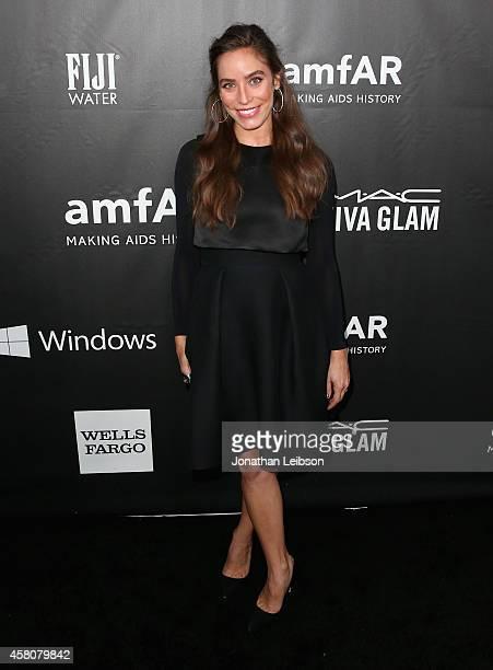 Designer Melissa Sears attends amfAR LA Inspiration Gala honoring Tom Ford at Milk Studios on October 29 2014 in Hollywood California