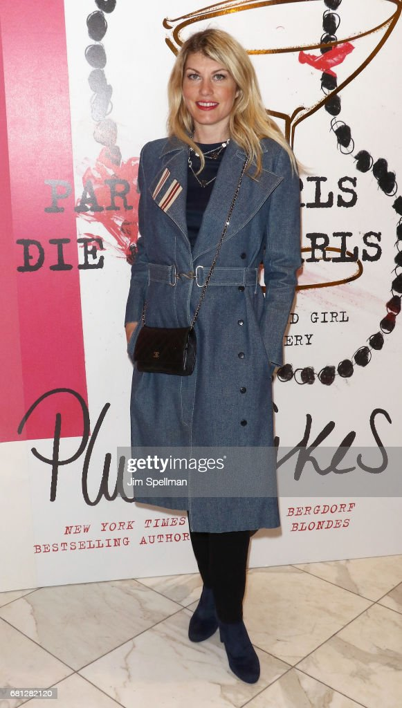 Designer Meredith Ostrom attends Plum Skye's 'Party Girls Die In Pearls' book launch celebration at Brooks Brothers on May 9, 2017 in New York City.