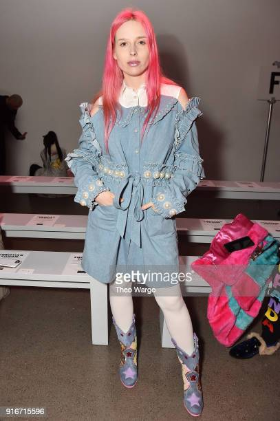 Designer Mery Racauchi attends the Christian Cowan fashion show during New York Fashion Week The Shows at Gallery II at Spring Studios on February 10...
