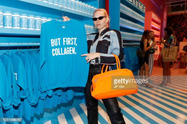 Designer Mery Racauchi attends the Vital Proteins Launches Feed Your Beauty Popup Store in Soho NYC on September 5 2018 in New York City