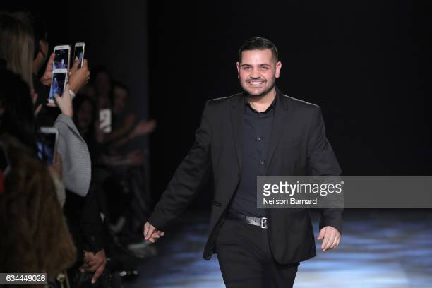 Designer Michael Costello walks the runway at the Michael Costello show during, New York Fashion Week: The Shows at Gallery 1, Skylight Clarkson Sq...