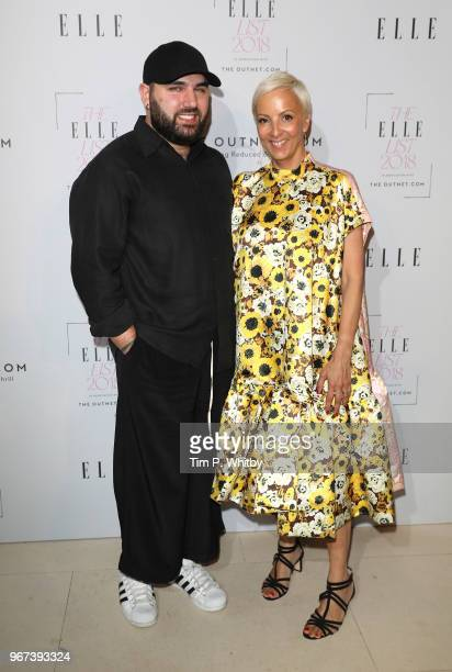Designer Michael Halpern and EditorinCheif of Elle AnneMarie Curtis attends The ELLE List 2018 at Somerset House on June 4 2018 in London England