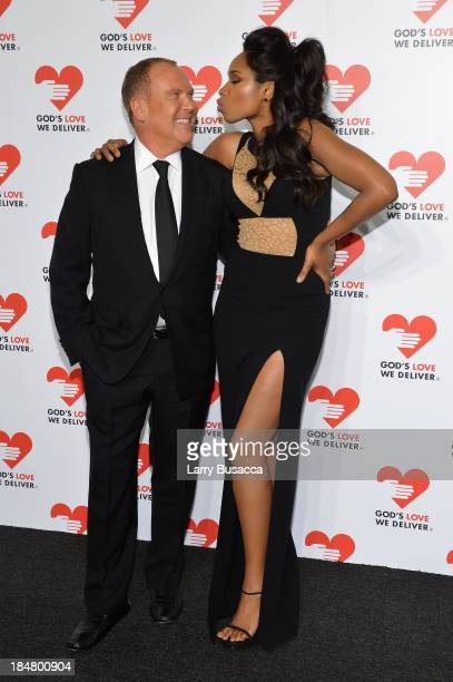 Designer Michael Kors and Actress and Singer Jennifer Hudson attend God's Love We Deliver 2013 Golden Heart Awards Celebration at Spring Studios on...