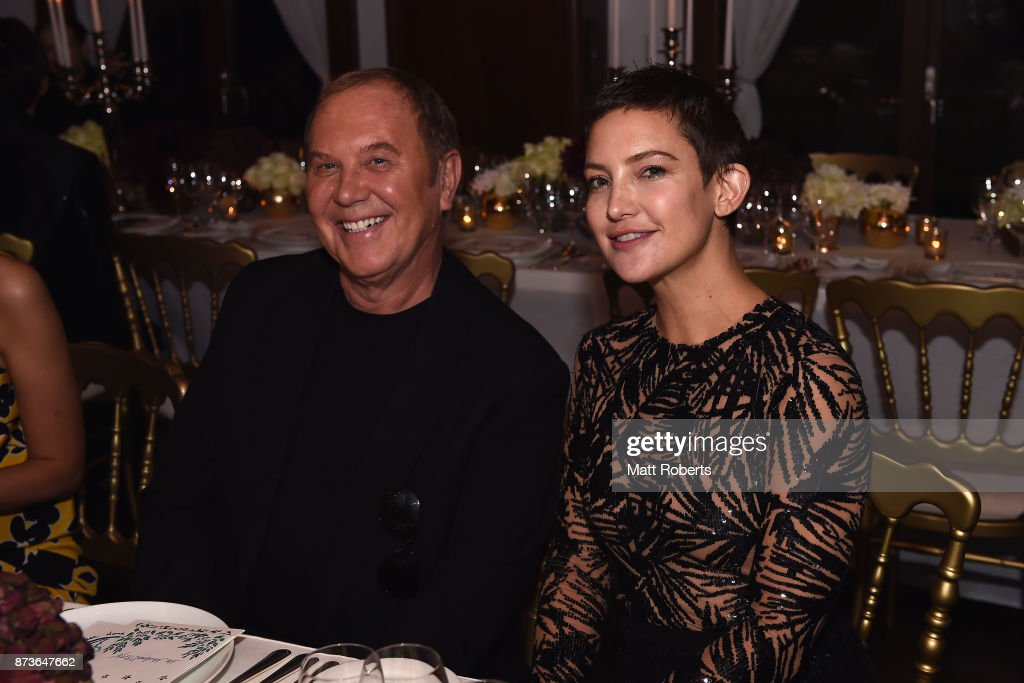 Designer Michael Kors and actress Kat Hudson attend the Michael Kors And Vogue Japan Celebrate Kate Hudson's Work With Watch Hunger Stop In Support Of The World Food Programme on November 13, 2017 in Tokyo, Japan.