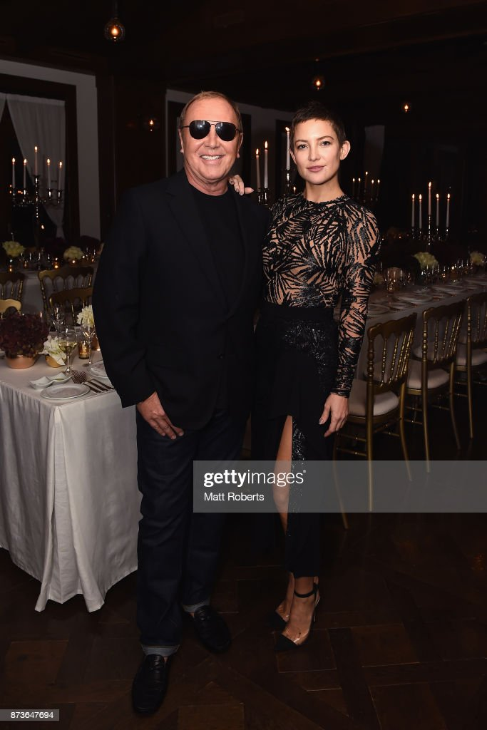 Designer Michael Kors and actress Kate Hadson attend the Michael Kors And Vogue Japan Celebrate Kate Hudson's Work With Watch Hunger Stop In Support Of The World Food Programme on November 13, 2017 in Tokyo, Japan.