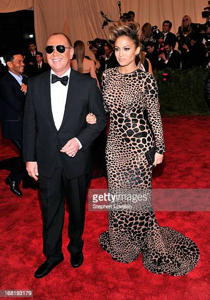 """Designer Michael Kors and Jennifer Lopez attend the Costume Institute Gala for the """"PUNK: Chaos to Couture"""" exhibition at the Metropolitan Museum of..."""
