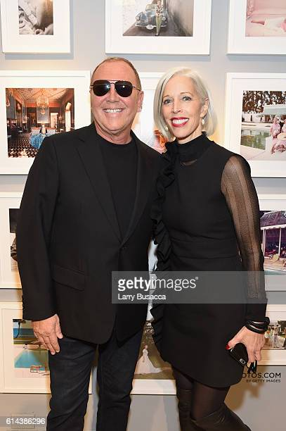 Designer Michael Kors and SVP Fashion and Store Presentation Director at Bergdorf Goodman Linda Fargo attend the celebration for Michael Kors' 35th...