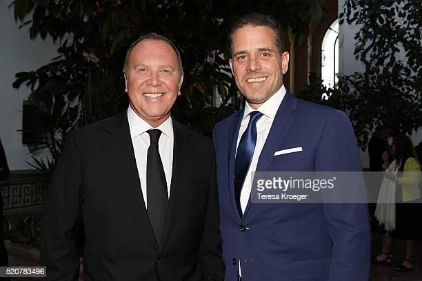 Designer Michael Kors and World Food Program USA Board Chairman Hunter Biden attend the World Food Program USA's Annual McGovernDole Leadership Award...