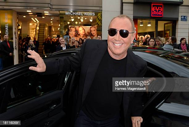Designer Michael Kors arrives to open Fragrance & Beauty Corner at Douglas on September 19, 2013 in Munich, Germany.