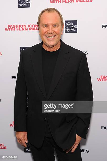 Designer Michael Kors attends Fashion Lives' book launch at Saks Fifth Avenue on April 20 2015 in New York City