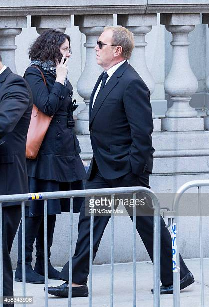 Designer Michael Kors is seen at the funeral of fashion designer Oscar De La Renta at St Ignatius Of Loyola on November 3 2014 in New York City