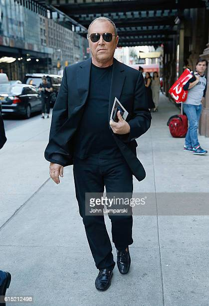 Designer Michael Kors is seen leaving the Bill Cunningham Memorial at Carnegie Hall on October 17 2016 in New York City