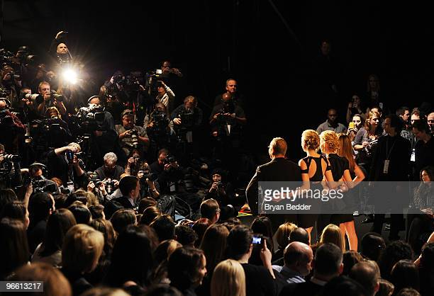 Designer Michael Kors model Heidi Klum Singer Faith Hill and Fashion Director of Elle and Marie Claire Nina Garcia attend Project Runway Fall 2010...