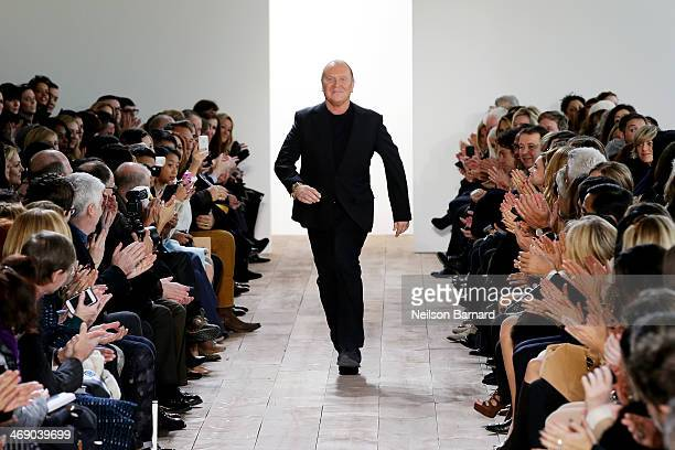 Designer Michael Kors walks the runway at the Michael Kors fashion show during MercedesBenz Fashion Week Fall 2014 on February 12 2014 in New York...