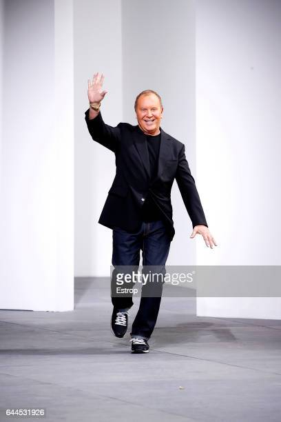 Designer Michael Kors walks the runway at the Michael Kors show during the New York Fashion Week February 2017 collections on February 15 2017 in New...