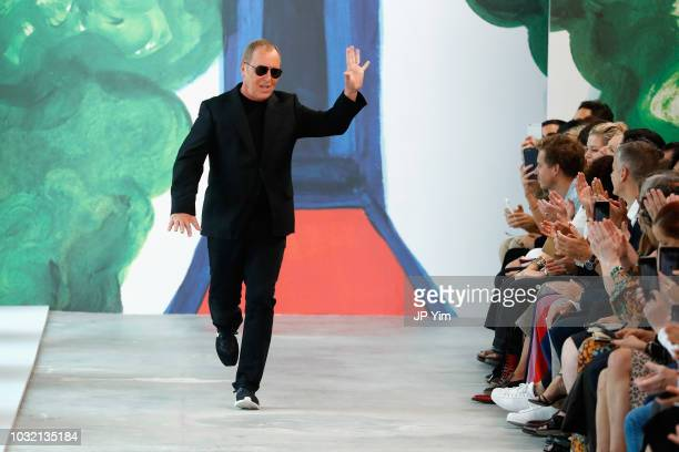 Designer Michael Kors walks the runway during the Michael Kors Collection Spring 2019 Runway Show at Pier 17 on September 12 2018 in New York City