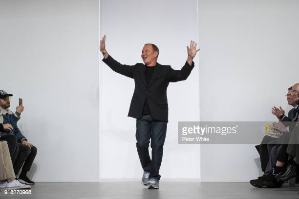 Designer Michael Kors walks the runway during the Michael Kors Collection Fall 2018 Runway Show at Vivian Beaumont Theatre at Lincoln Center on...