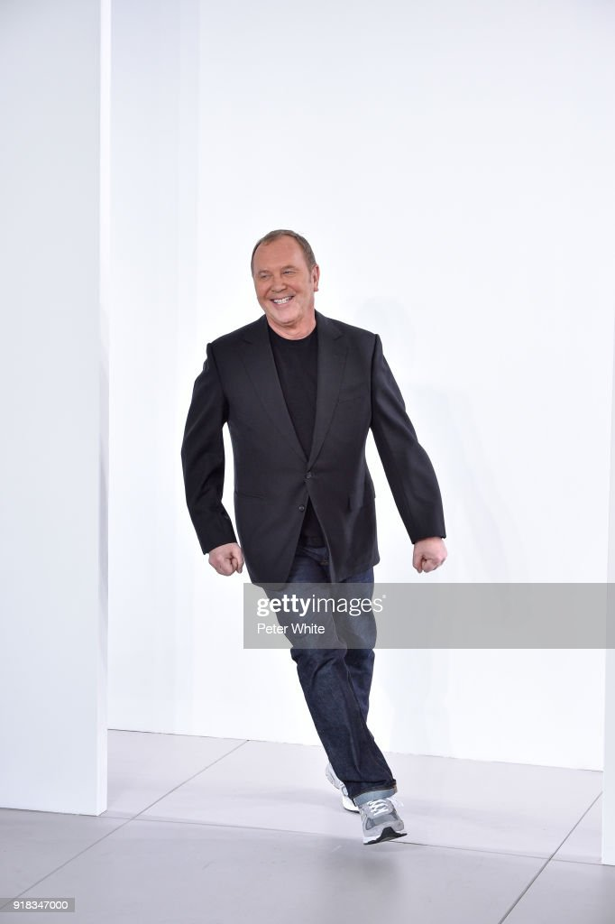 Designer Michael Kors walks the runway during the Michael Kors Collection Fall 2018 Runway Show at Vivian Beaumont Theatre at Lincoln Center on February 14, 2018 in New York City.