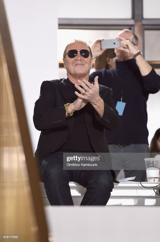 Designer Michael Kors watches the rehearsal during the Michael Kors Collection Fall 2018 Runway Show at Vivian Beaumont Theatre at Lincoln Center on February 14, 2018 in New York City.