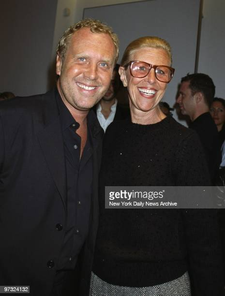 Designer Michael Kors with his mother at the opening of his flagship store on Madison Ave