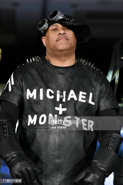 Designer Michael Lombard walks the runway for Michael Lombard at the House of iKons show during London Fashion Week February 2019 at the Millennium...