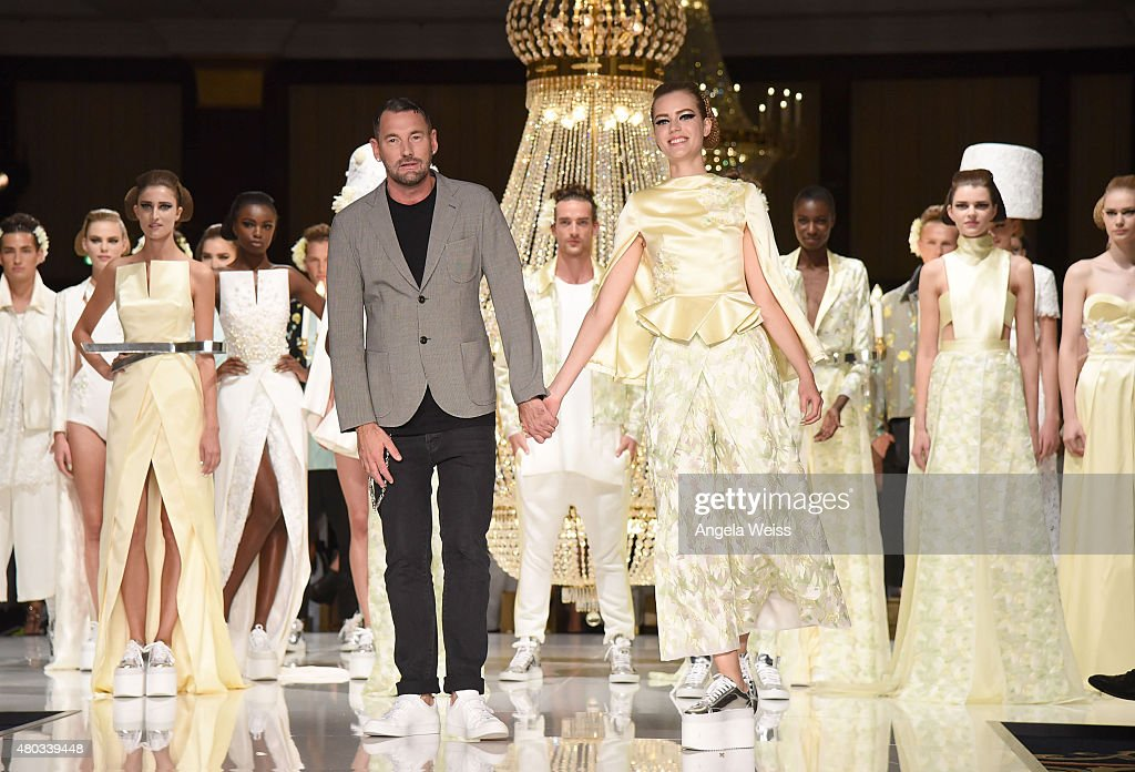 Designer Michael Michalsky walks the runway at the MICHALSKY StyleNite 2015 at Ritz Carlton on July 10, 2015 in Berlin, Germany.