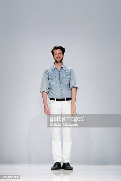 Designer Michael Sontag is seen on the runway at the Michael Sontag show during the MercedesBenz Fashion Week Berlin Spring/Summer 2016 on July 9...