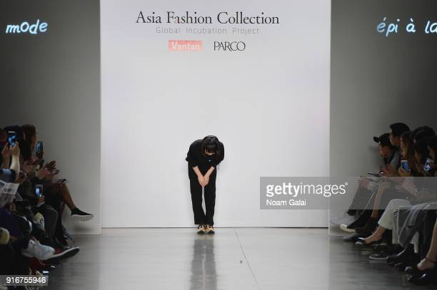 Designer Miho Tsutsumi walks the runway for epi a la mode at Asia Fashion Collection during New York Fashion Week The Shows Gallery II at Spring...