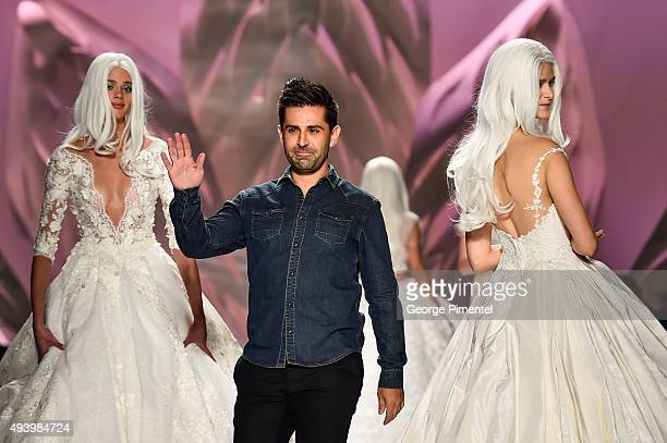 Designer Mikael Derderian presents Mikael D spring 2016 collection during World MasterCard Fashion Week Spring 2016 at David Pecaut Square on October...
