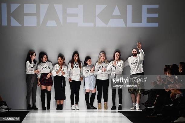 Designer Mikhael Kale presents Mikhael Kale spring 2016 collection during World MasterCard Fashion Week Spring 2016 at David Pecaut Square on October...
