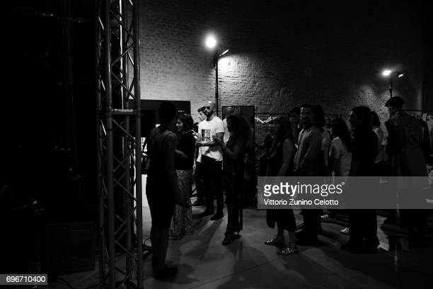 Designer Milan Vukmirovic is seen backstage ahead of the Ports 1961 show during Milan Men's Fashion Week Spring/Summer 2018on June 16 2017 in Milan...