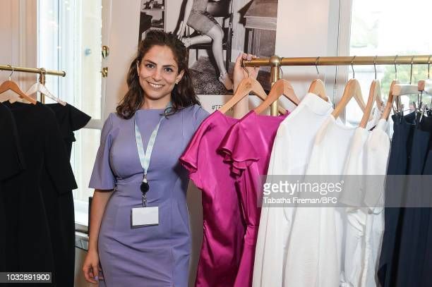 223cb6ce94e Designer Miriam Baker attends the Curated Canadian Collections during  London Fashion Week September 2018 at Canada