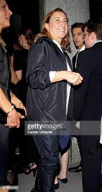 Designer Miuccia Prada attends Tom Ford Boutique Opening during Milan Fashion Week Spring/Summer 2009 on June 23, 2008 in Milan, Italy.