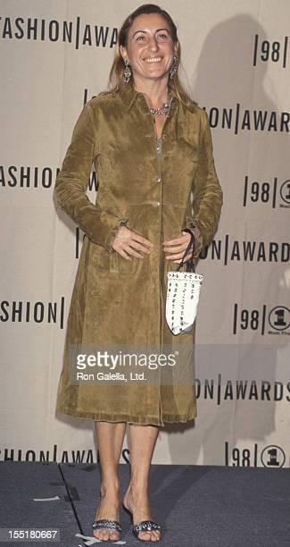 Designer Miuccia Prada attends VH1 Fashion Awards on October 23, 1998 at Madison Square Garden in New York City.