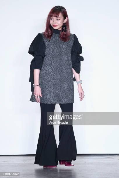 Designer Monaca Nishi walks the runway for Global Fashion Collective Presents Fiction Tokyo At New York Fashion Week Fall 2018 at Industria Studios...