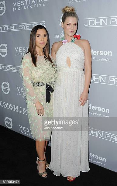 Designer Monique Lhuillier and actress Ali Larter arrive at the 5th Annual Baby2Baby Gala at 3LABS on November 12 2016 in Culver City California