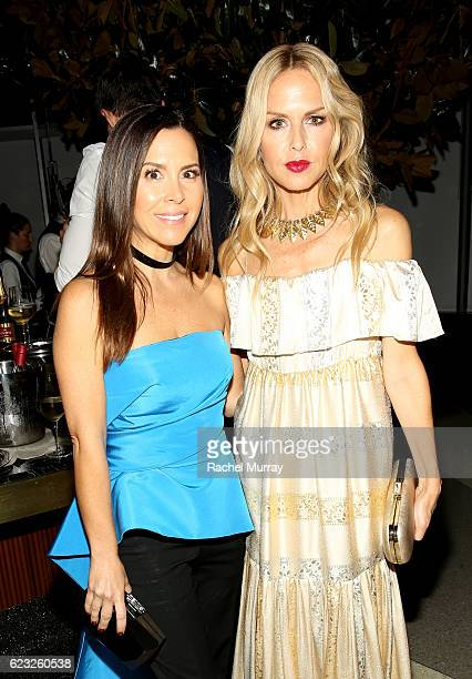 Designer Monique Lhuillier and stylist Rachel Zoe attend Glamour Women of the Year 2016 Dinner at Paley on November 14 2016 in Hollywood California