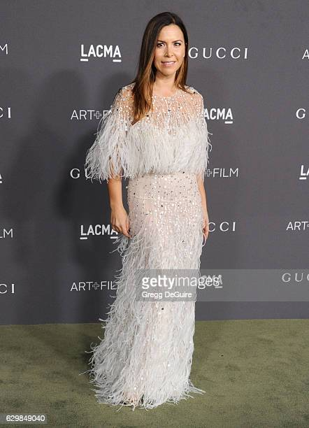 ed589088fc7 Designer Monique Lhuillier arrives at the 2016 LACMA Art Film Gala Honoring  Robert Irwin And Kathryn