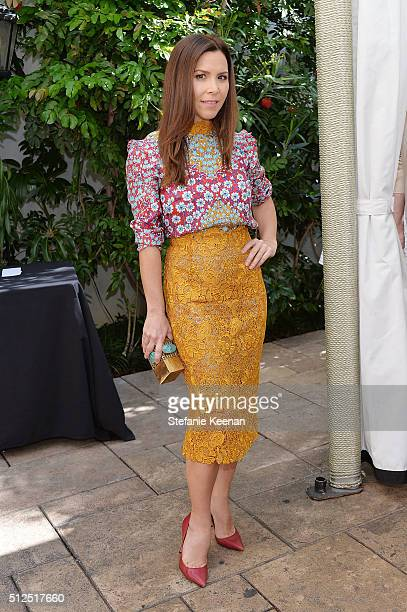 Designer Monique Lhuillier attends NETAPORTER Celebrates Women Behind The Lens at Chateau Marmont on February 26 2016 in Los Angeles California