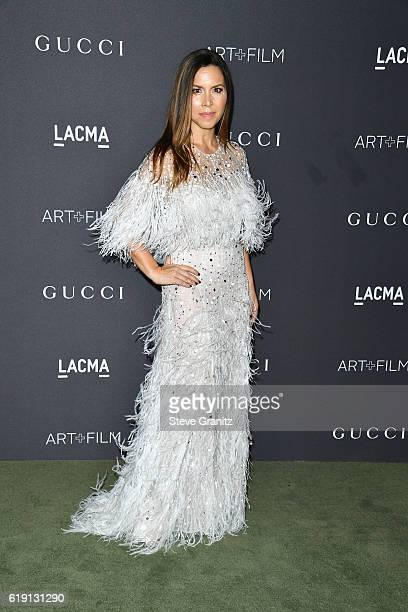 Designer Monique Lhuillier attends the 2016 LACMA Art Film Gala honoring Robert Irwin and Kathryn Bigelow presented by Gucci at LACMA on October 29...