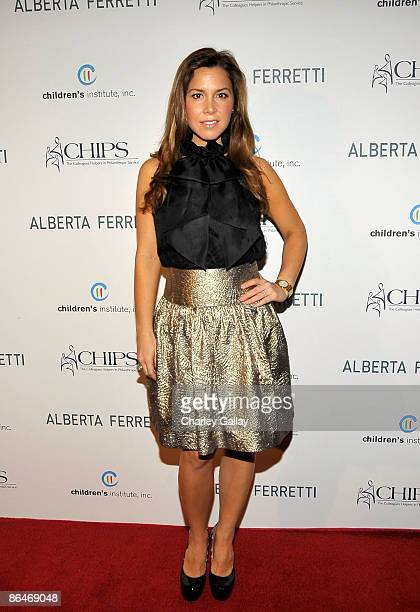 Designer Monique Lhuillier attends the CHIPS 2009 luncheon and fashion show honoring Alberta Ferretti at the Montage Beverly Hills on May 6 2009 in...