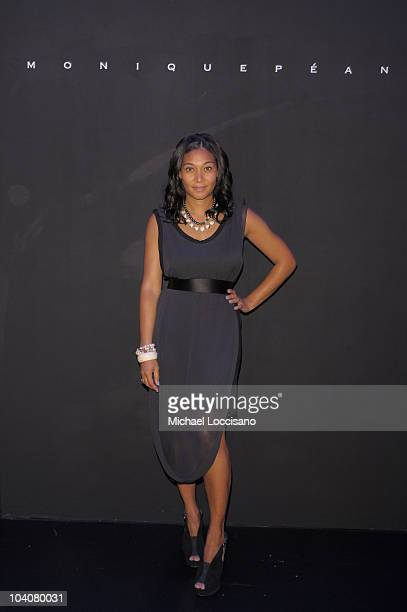 Designer Monique Pean attends the Monique Pean Spring 2011 fashion show during MercedesBenz Fashion Week at The Box at Lincoln Center on September 14...