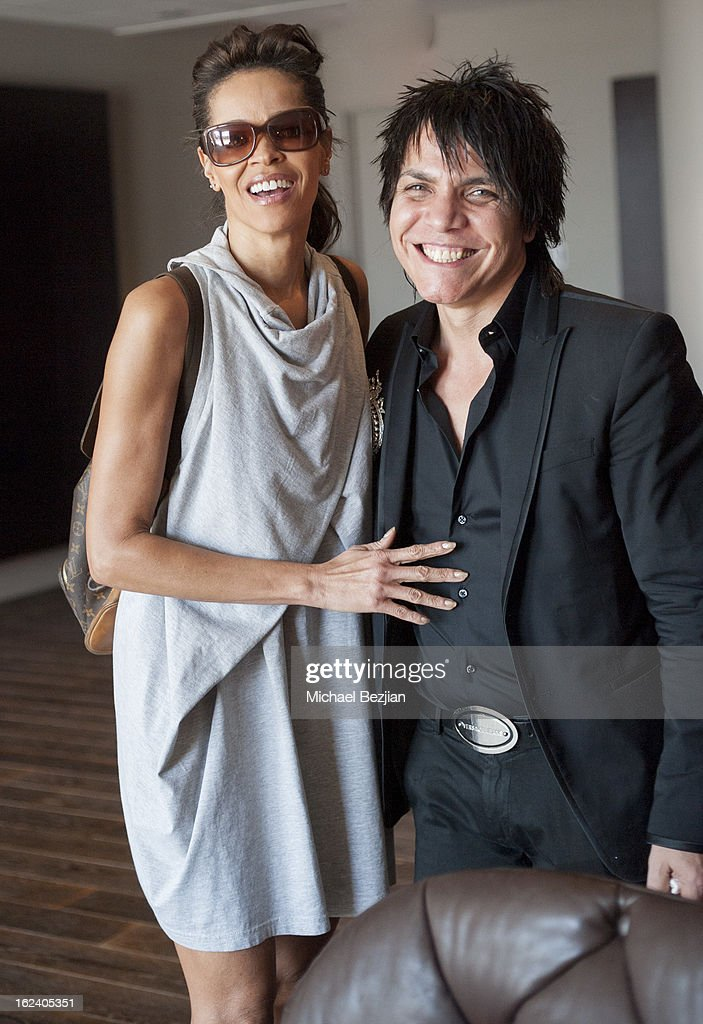 Designer Nabil Hayari and actress Kim Marieattend on February 22, 2013 in Los Angeles, California.