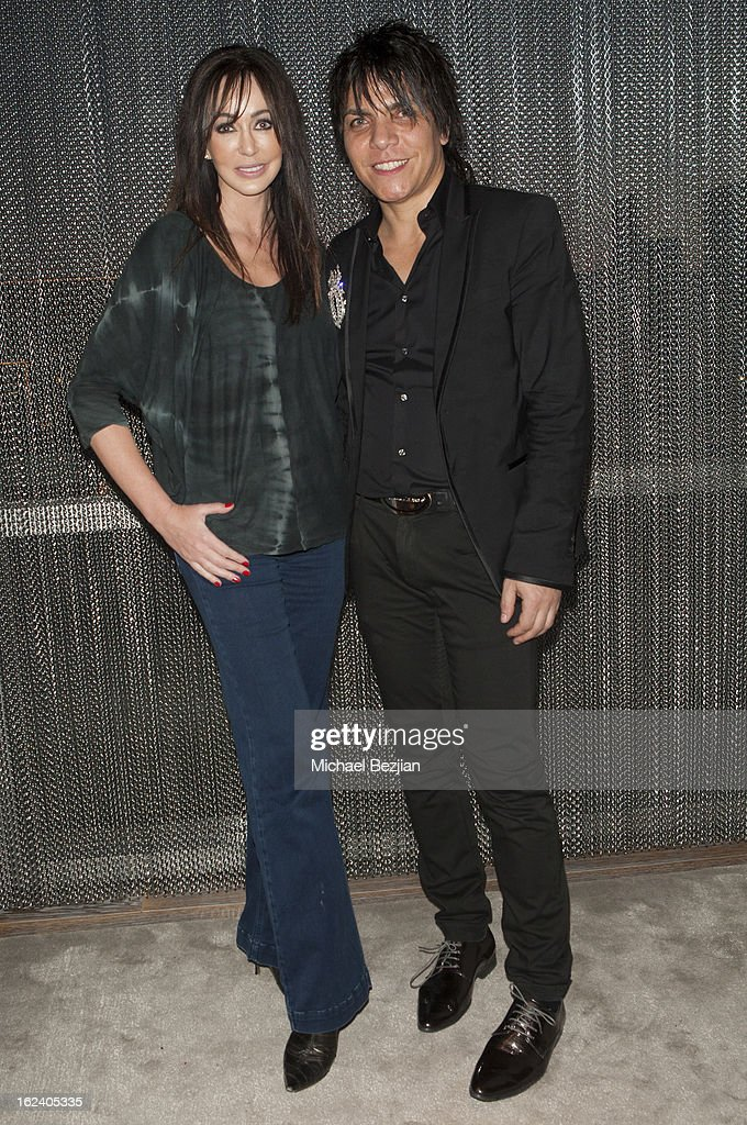 Designer Nabil Hayari and actress Melanie Mar attend on February 22, 2013 in Los Angeles, California.