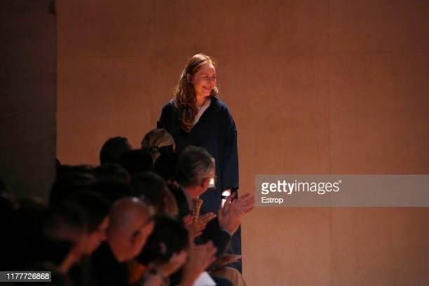 Designer Nadège Vanhee-Cybulski during the Hermes Womenswear Spring/Summer 2020 show as part of Paris Fashion Week on September 28, 2019 in Paris,...